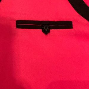 Anne Klein Tops - Ann Klein Hot Pink Sleeveless Blouse w/Black Trim